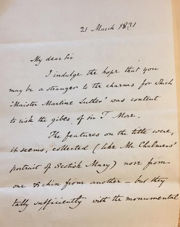 Martin letter 1
