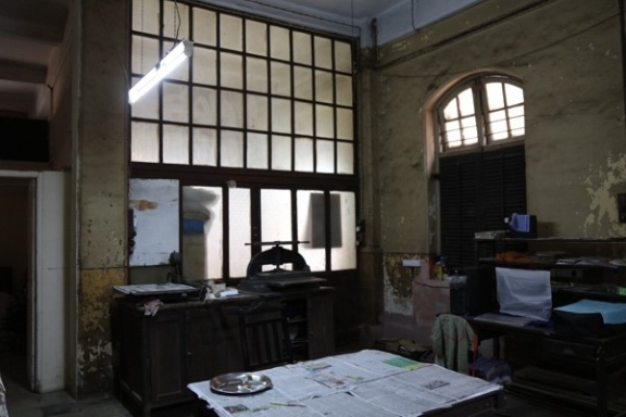 The office with an old paper press