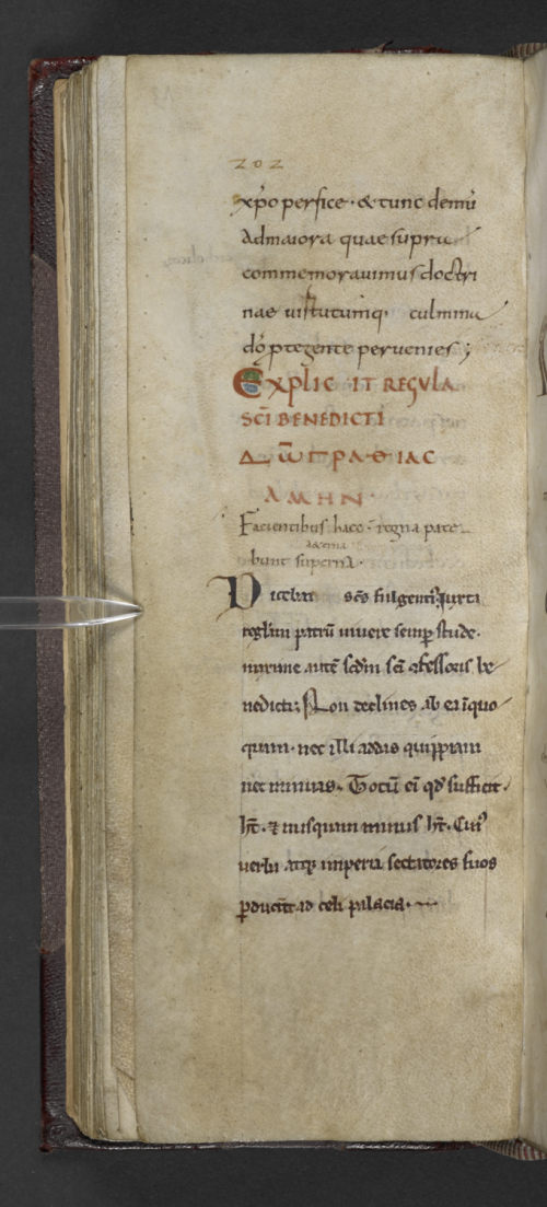 A medieval manuscript in Latin with an inscription in Greek letters
