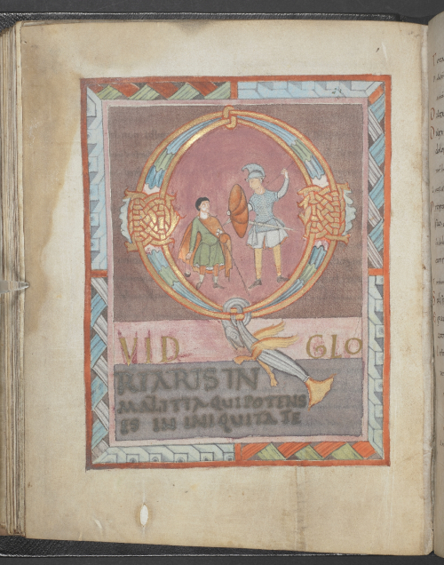 David and Goliath in the Stavelot Psalter