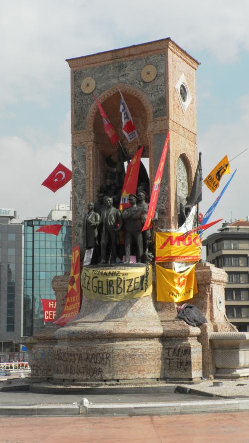 Cumhuriyet Anıtı (Republic Memorial) in Taksim Square