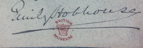 The signature of Emily Hobhouse on one of her letters to Ripon