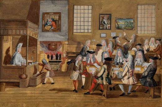 A late-seventeenth-century London coffee house