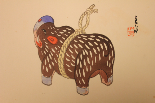 Illustration from the Japanese album of toys Omochabako (BL ORB 40/950)
