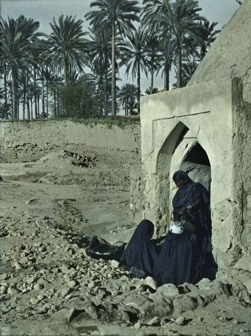 Colourised black and white image