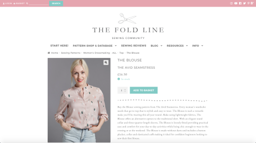 The Fold Line new website - pattern page