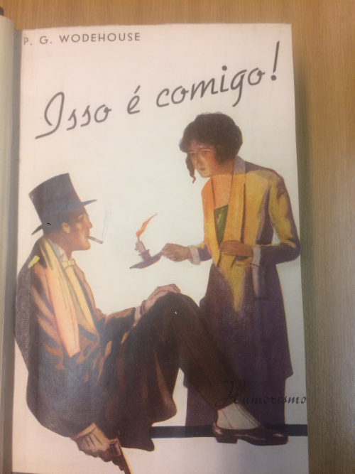 Front cover of The front cover of Edmundo Paula Rosa's Portuguese translation of Leave it to Me (1938)