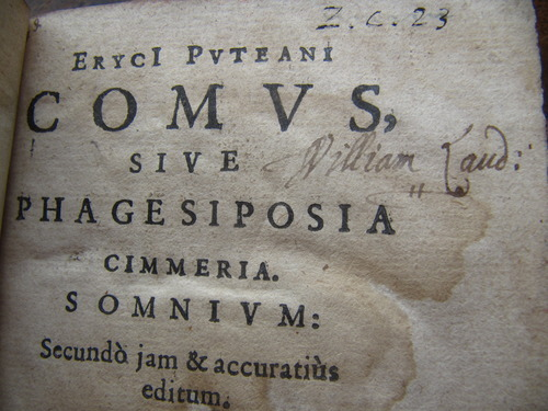 A book with Laud's signature