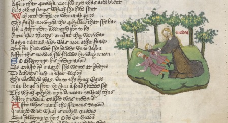 A miniature of Medea killing her children