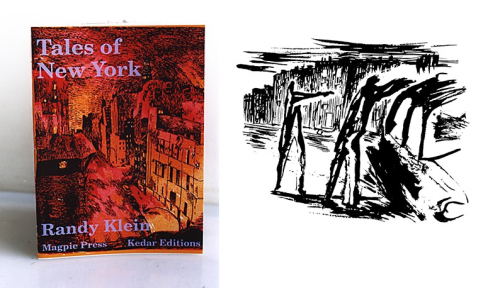 Photograph showing front cover and excerpt from Tales of New York