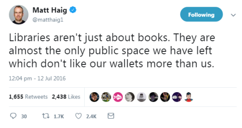 Matt Haig tweet