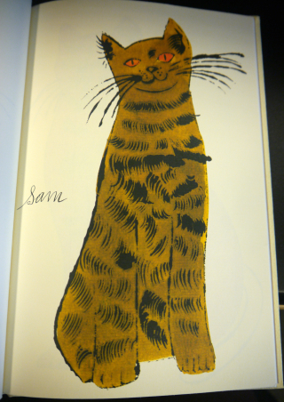 An illustration of a tabby Sam cat