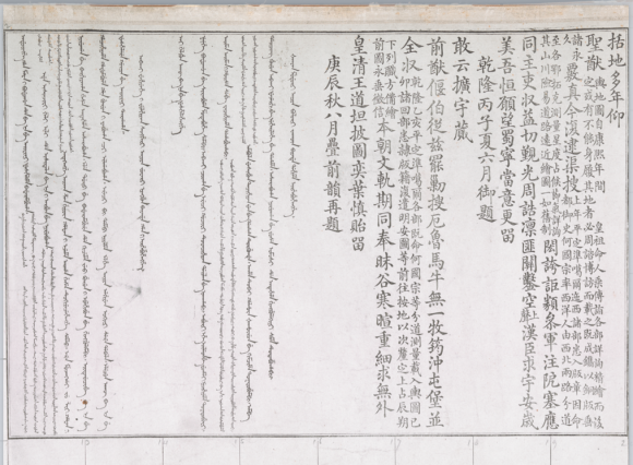 The BL edition of the Yongzheng Atlas is prefaced by two Qianlong's poems in Chinese and Manchu, which are dated 1756 and 1760. The same poems preface the Qianlong Atlas (BL IOR/X/3265)