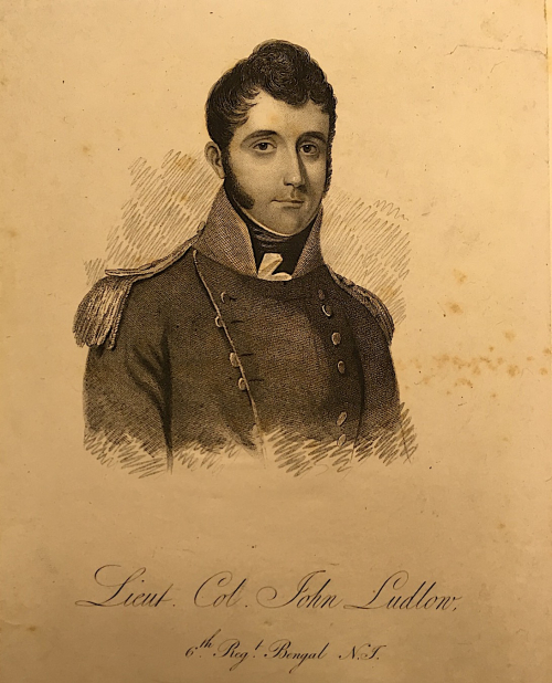 Engraving of Lieut. Col. John Ludlow, 6th Bengal Native Infantry (BL P1538)