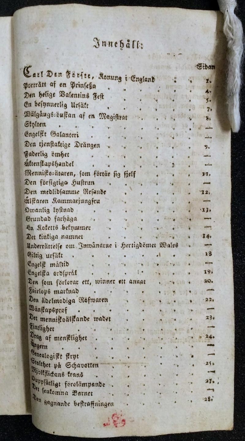 John Bull Contents