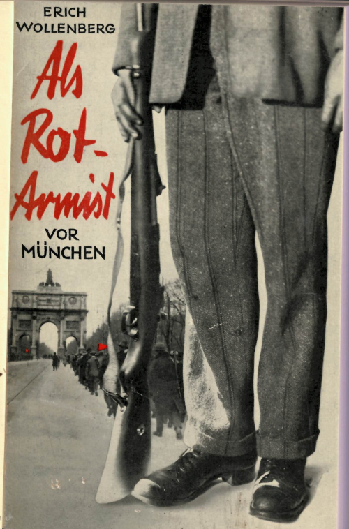 Cover of 'Als Rotarmist vor München' showing an armed man standing in a city street