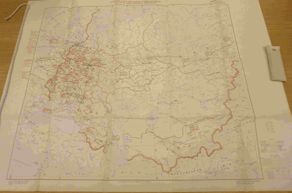 Distribution map of Soviet Air Force