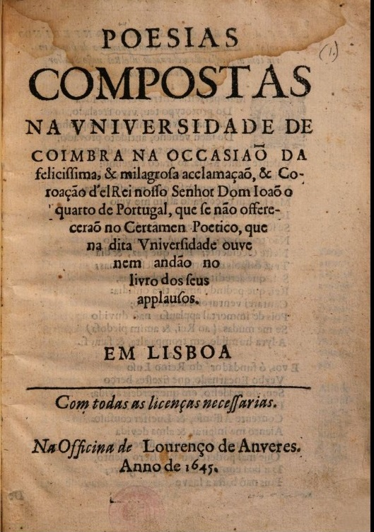 Title page of 'Poesias Compostas...'