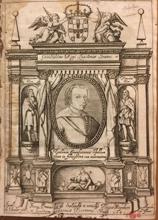 Page from 'Invictissimo Regi Lusitaniæ Joanni. IV...'