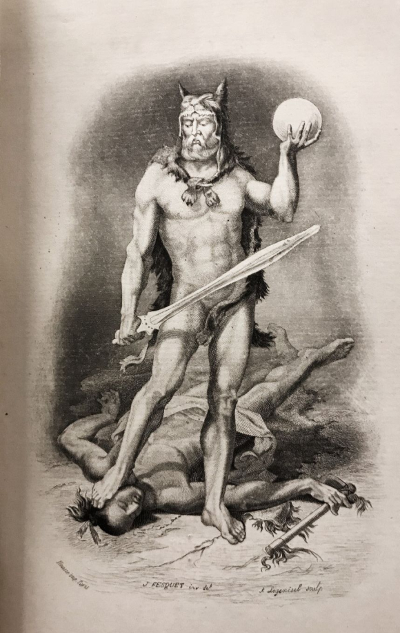 Portrait of Robinson Crusoe by Jules Fesquet and Legenisel