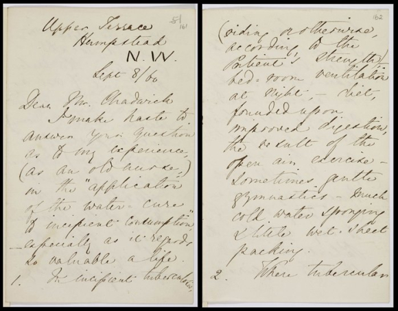 Letter from Florence Nightingale to Edwin Chadwick