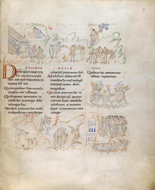 A page from the Harley Psalter