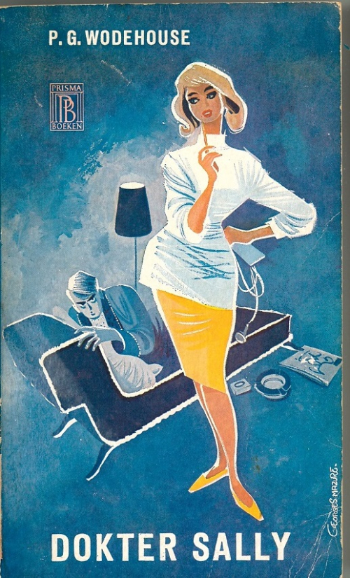 Cover of a Dutch P.G. Wodehouse translation showing characters in 1960s clothing
