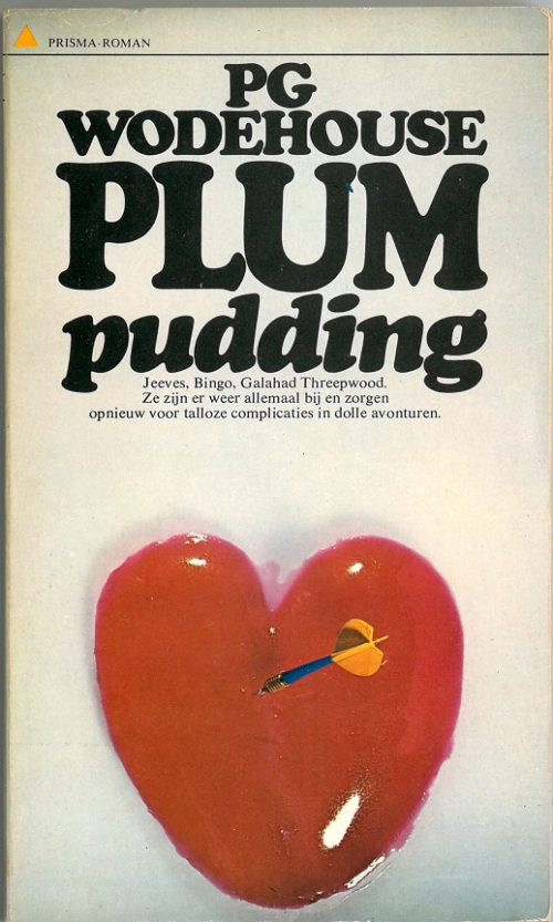 Cover of a Dutch Wodehouse translation showing a jelly heart pierced by a dart