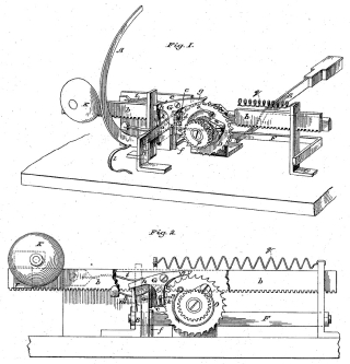 Image of a sketch of Hammond Typewriter