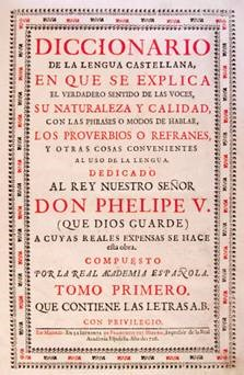 Title-page of the facsimile of the Diccionario de Autoridades