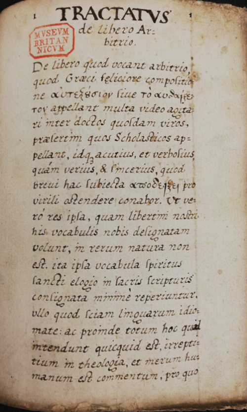 Image 9 - Tractatus de Libero Arbitrio