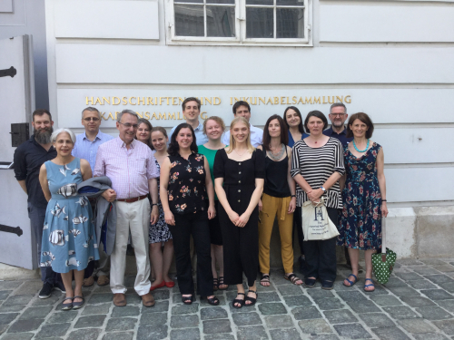 Members of the Insular Manuscripts workshop in Vienna.