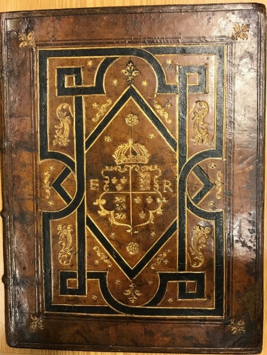Binding covering a copy of La Cyropedie (Paris, 1547)