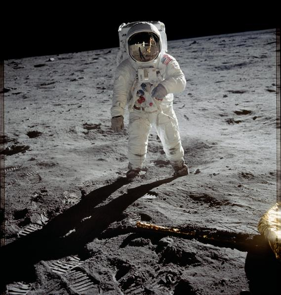 Buzz Aldrin on the Moon, Credit: NASA