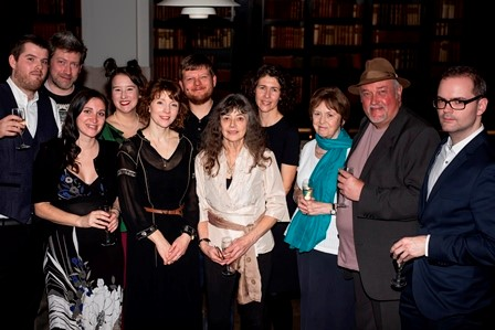 Photograph of the judges and shortlisted poets and publishers for 2018 Michael Marks Awards