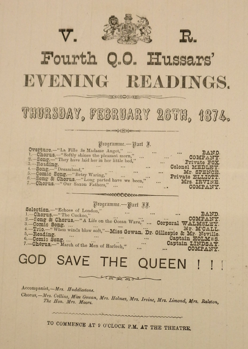 Evening readings programme