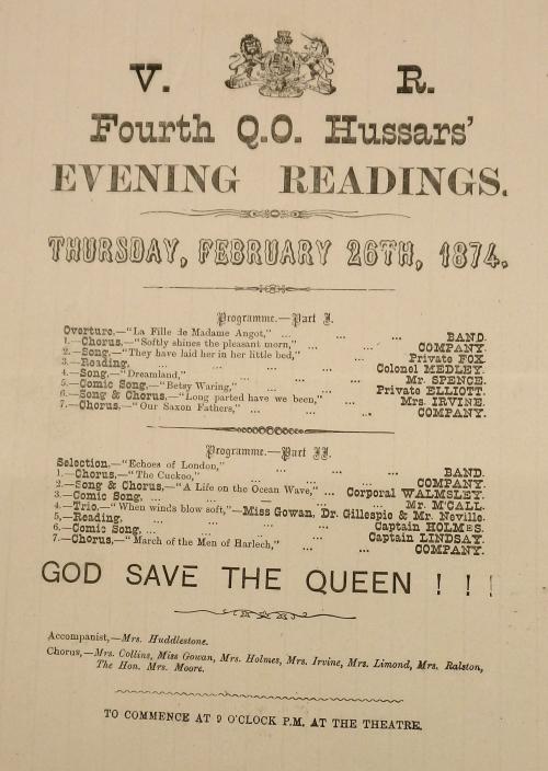 Evening readings programme