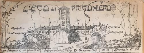 Newspaper masthead showing the Sigmundsherberg Camp