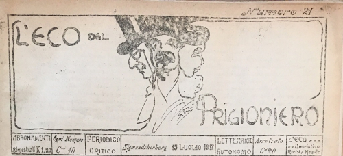 Newspaper masthead with stylised image of three faces