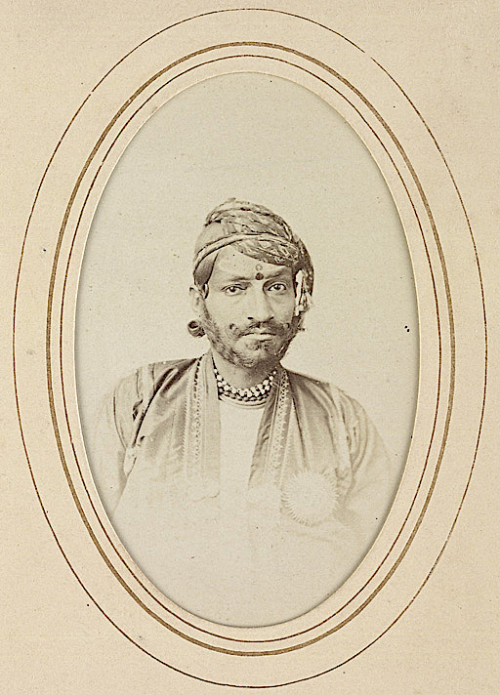 Photograph of Ram Singh II. Jaipur, 1870s (BL Photo 127/(8))
