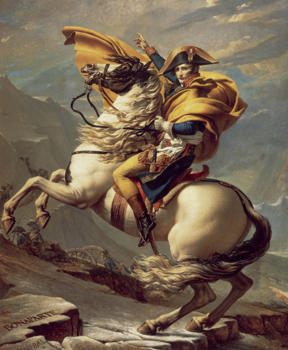 Napoleon crossing the Alps by Jacques-Louis David 1800