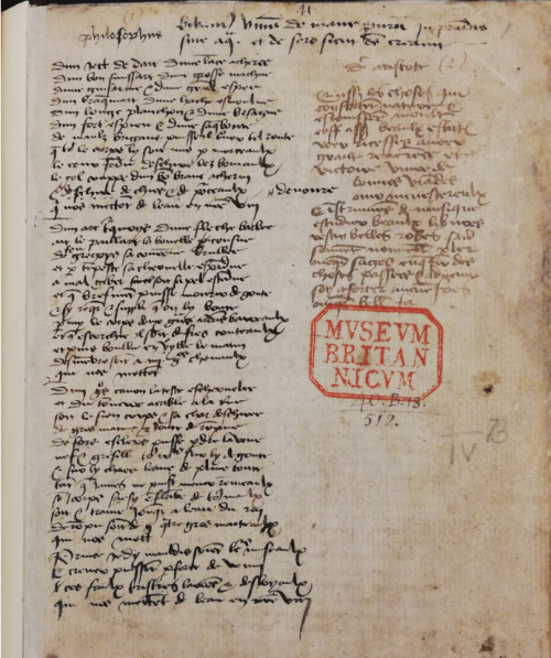 The manuscript of The Joyful Ballad