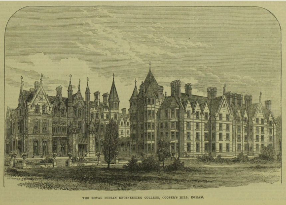 Royal Indian Engineering College, Cooper's Hill from Illustrated London News 25 Nov 1871