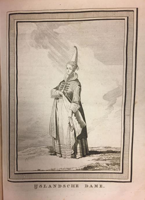 Engraving of Icelandic woman