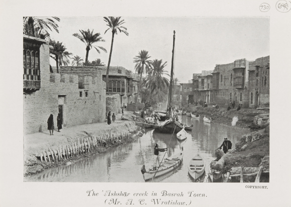 Photograph of 'Ashshār creek, Basra,