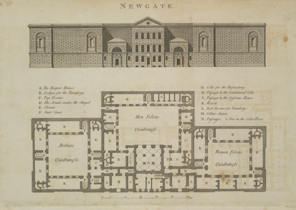 Plan of Newgate Prison
