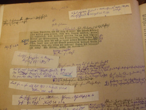 Handwritten notes by Daniel Sanders in a working copy of his dictionary