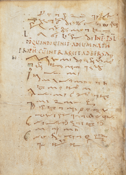 A Psalter written in Tironian notes