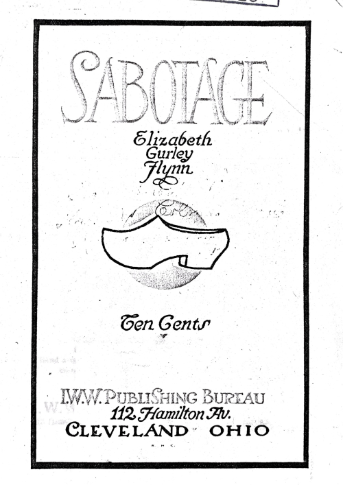 Front cover for Sabotage by Elizabeth Gurley Flynn