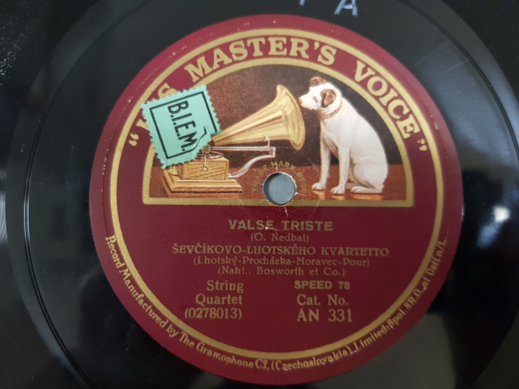 Disc label Valse Triste